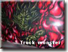 "Аэрография - рисунок на дефлекторе грузовика ""Truck monster"""